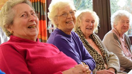 Sprowston Day Centre socialising group for the elderly who received a grant from Comic Relief.PHOTO