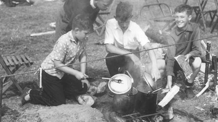 Clubs1st Sculthorpe Scouts at a Jamboree at Sennowe Park, Guist.Date -- 10 August 1960Photograph --