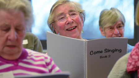 Come Singing, at The Costessey Centre, who got £400 from Comic Relief last year to buy song books, h