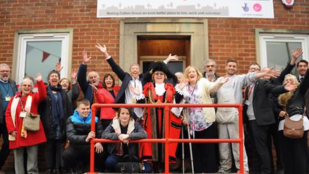 The Lord Mayor of Norwich, Brenda Arthur, officially opens The Box, a community information centre p