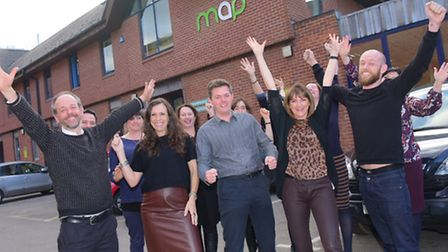 Mancroft Advice Project staff celebrate after getting £500,000 in Big Lottery Funding.PHOTO BY SIMON