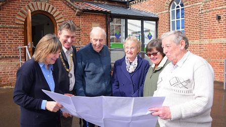 Staff and Councillors discuss the plans that Sprowston Town Council has agreed to spend between £1.3