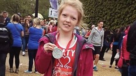 katy Walker, 25, from Attleborough, who is running the 2016 London marathon for the East Anglia Air