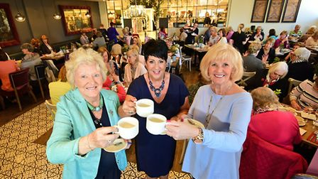 The LILAC Ladies' Big Cuppa event at Benji's restaurant in Jarrold store. Left to right, Theresa Cos