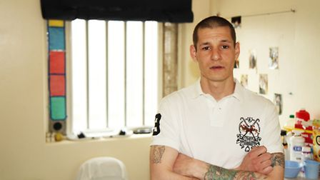 Rocky Gamble in his cell at HMP Norwich. Photo: ITV