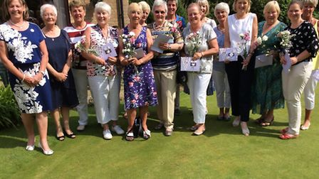 Swaffham Golf Club ladies section held their annual Ladies AM AM. Pictured left is ladies president