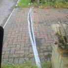 Residents in Beech Rise are fed up with a temporary overground cable that has been in place for mor