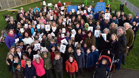 Many Wymondham residents want the King's Head Meadow relocation halted and the park to remain in pl