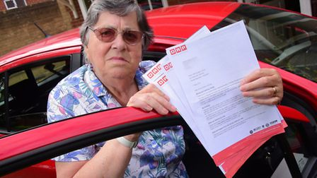 Wendy Newton-Fenbow who has received five parking charges after using Earlham House Shopping Centre.