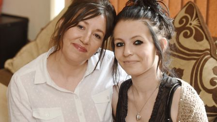 Heart and Home - Sarah, left with Tasha, who is being supported through the Benjamin Foundation's s