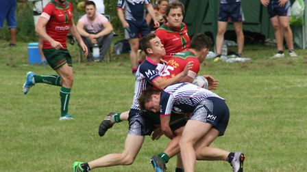 Action from the Swaffham Summer Sevens, Rumns v Sudbury. Pictures: Jim Crouchman