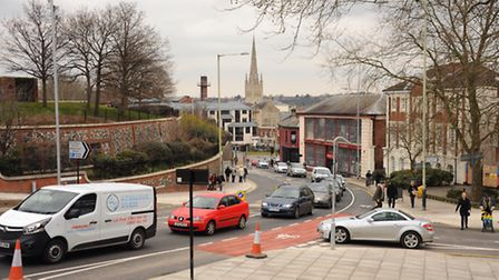 The Rouen Road junction with Cattle Market Street. Picture: DENISE BRADLEY