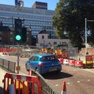Roadworks in All Saints Green/Westlegate. Pic: Archant.