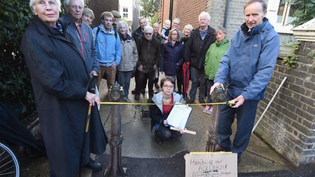 Residents of Clarendon Road continue their campaign to save the ornamental bollards on their road. S