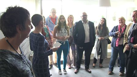 Founder Rebecca White speaking at Your Own Place's Training Flat opening
