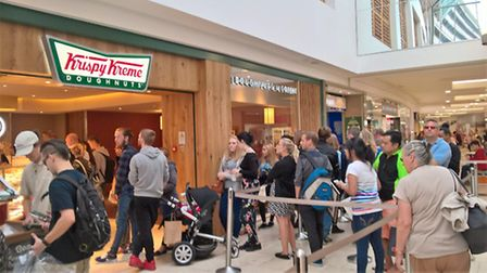 People flocked to Krispy Kreme on its opening day. Picture Archant
