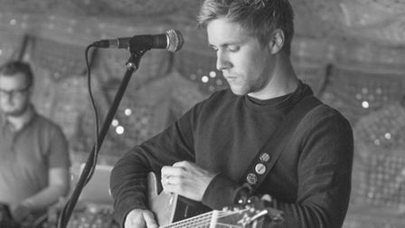 Sprowston singer/songwriter Bill Downs performing. Photo: Bill Downs