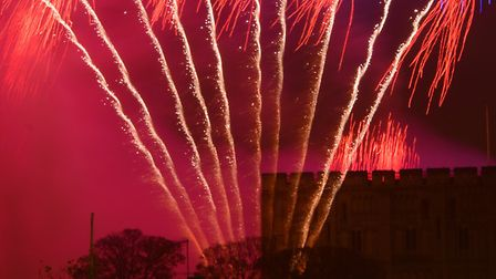 Thousands of people fill the streets of Norwich for the Big Boom fireworks display.PHOTO BY SIMON FI