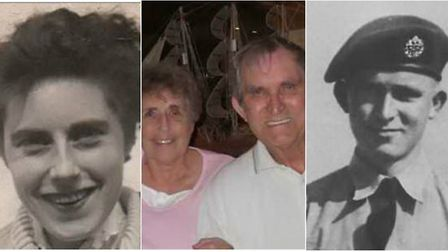 Ruth and Terry Brock in their younger days and celebrating their diamond wedding Picture: Brock Fami