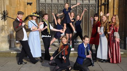Norwich School students who are taking part in the Young Norfolk Arts Festival. Picture: DENISE BRAD