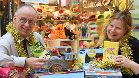 Norfolk and Norwich University Hospital fundraising manager, Louise Cook, at Langley's Toys in the R