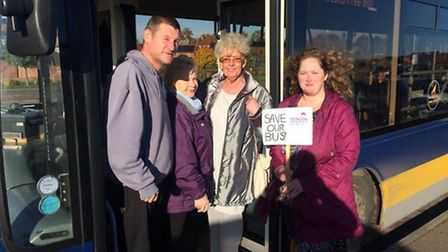 Campaigners fighting to retain the free bus provided by Tesco at the Blue Boar Lane store in Sprowst