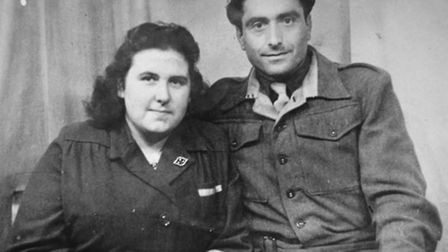 Pat with Giovanni Siano in 1945 EN OriginalPicture: CollectFor: EN NewsEvening News © 2008 (01603)