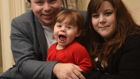 Baby of the Year, Ava Livingstone, with her parents Chelsea Mundford and Kyle Livingstone.Picture: A