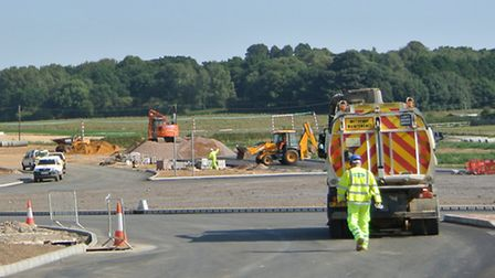 Work on the Norwich Northern Distributor Road. Picture: Nigel Pickover