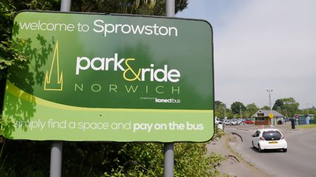 Sprowston Park and Ride near Norwich. Picture: Steve Adams