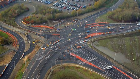 The Postwick Hub junction is one of the recent highways projects orchestrated by Norfolk County Coun