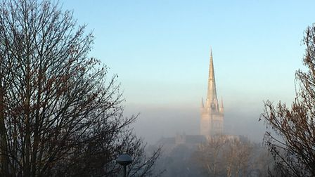 Misty Norwich Cathedral