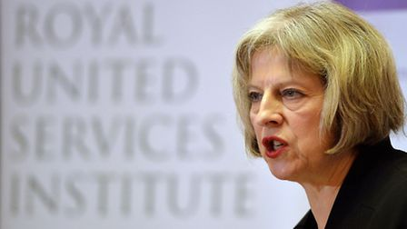 Home Secretary Teresa May speaks during the counter-terrorism awareness week conference at the Royal