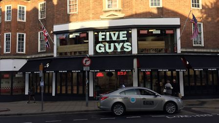 Five Guys opening day. Picture Archant Library.
