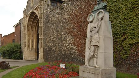 The Edith Cavell statue in Tombland, Norwich. Photo:Antony Kelly