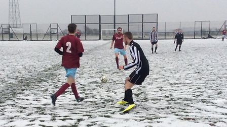 Schoolhouse beat the snow and Aslacton 6-0 in the League Cup last weekend. Picture: BEN CASEY