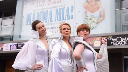 The Dynamos, from left, Tanya, played by Emma Clifford; Donna Sheridan, played by Helen Hobson; and