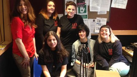 Students from UEA visiting Future Radio to learn the ropes.