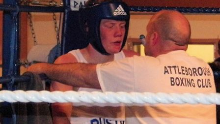 Attleborough's Mark Riley (Rusty) was in action at Connaught Hall.