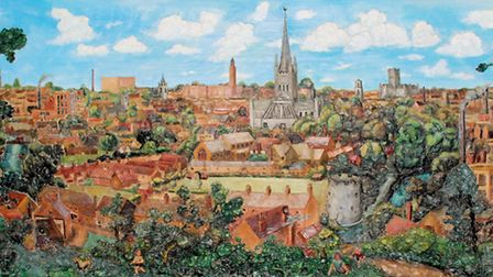 The Norwich Panorama now on display at The Forum until April 1.