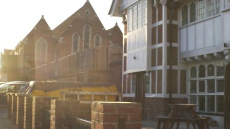 The Mitre pub on Earlham Road which has been taken over by St Thomas Church next door for use as a c