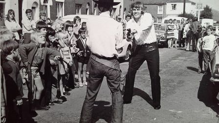 Reach for the sky! High noon in Norwich of the mid-1970s when The Marshal was on patrol. But do you