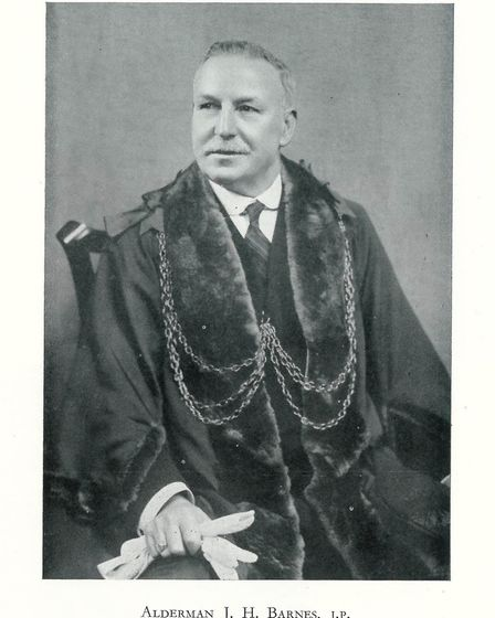 James Henry Barnes, who was Lord Mayor during the Norwich Blitz year of 1942. Barnes Close is named