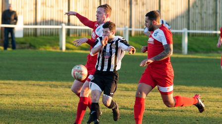 Alex Vincent was on target for Swaffham against Walsham-le-Willows. Picture: Eddie Deane