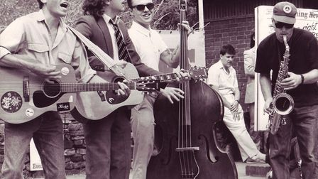 Benson Brothers busking. Photo: Archant Library