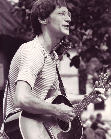 John Sayer busking in Norwich. Photo: Archant Library
