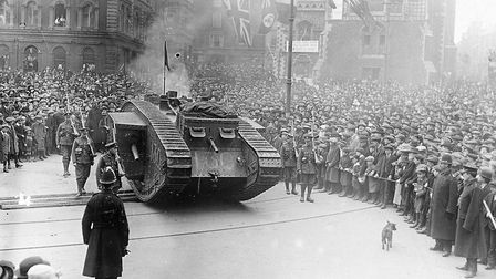 Tank at the market place. Photo: Archant Library