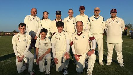 Hethersett and Tas Valley's victorious fourth team. Picture: Hethersett & TV CC