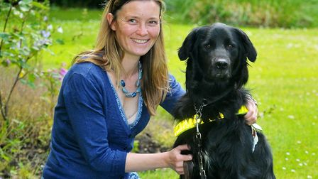 Norwich South candidate Lana Hempsall with dog ClarkPicture: Adrian Judd