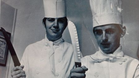Chefs Graham Mills (left) and Peter Hemblen who worked at Princes. Photo: June Smith